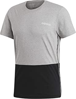 adidas Men's Mens Celebrate the 90s Colorblock T-Shirt, Grey (Medium Grey Heather/Black/white)