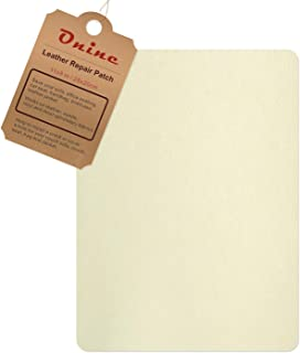 Leather Repair Patch,Self-Adhesive Couch Patch,Multicolor Available Anti Scratch Leather 8X11 Inch Peel and Stick for Sofas, car Seats Hand Bags Jackets (Creamy-White)