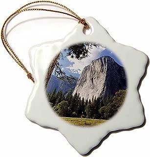 3dRose ORN_142648_1 USA California, Yosemite National Park, El Capitan Us05 Bjy0059 Jaynes Gallery Snowflake Ornament, Porcelain, 3-Inch
