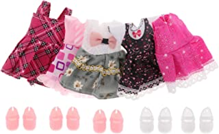 #N/A Dollhouse Modern Family Outfits Miniature 1:12 Scale Dolls Clothing Set with Shoes - Style2