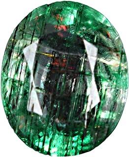 GEMHUB Esmeralda verde de 3,40 quilates, piedra preciosa natural certificada brillante, corte ovalado, piedra preciosa sue...