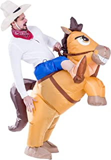 Inflatable Cowboy Riding a Horse Air Blow-up Deluxe Halloween Costume - Adult Size