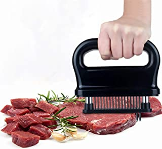 Meat Tenderizer Stainless Steel Blades-48 Sharp Needle Professional Kitchen Gadget Tenderizers for Meat Tenderizing, BBQ,Marinade & Flavor Maximizer of Beef Pork Steaks Chicken Fish