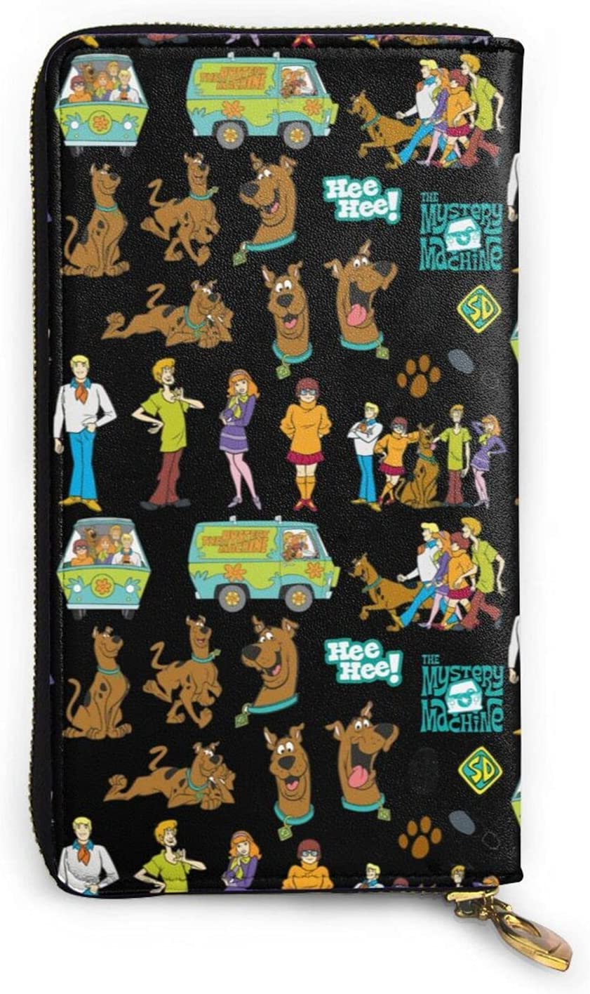 WONGTAL Scooby?doo Mens Personalized Leather Clut Long Beach Mall Wallet All items free shipping Genuine