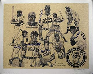 WILLIE MAYS ETC Hand Signed BY 6 Autograph 20x25 Photo Litho Hand Signed - JSA Certified - Autographed MLB Art