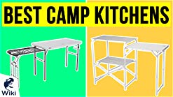 Amazon Com Ozark Trail Durable Steel Frame With Easy To Clean Tabletop Deluxe Outdoor Camp Kitchen And Sink Table Sports Outdoors