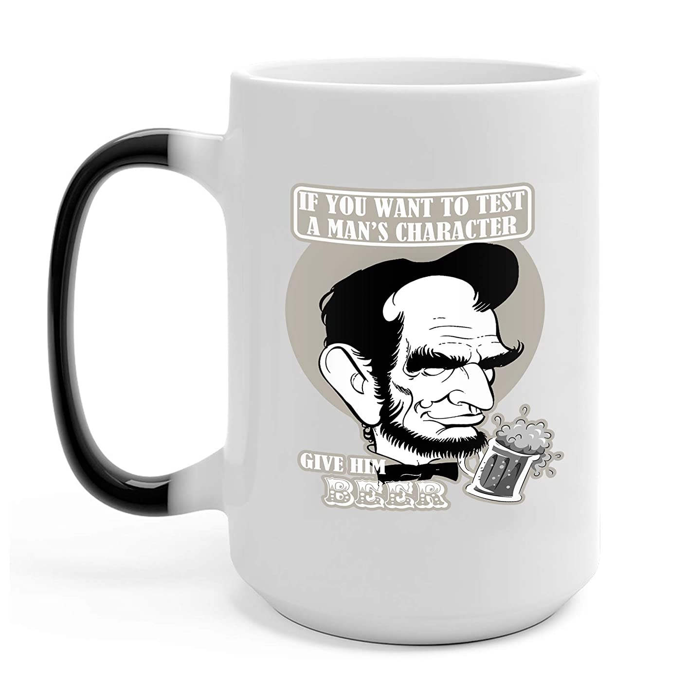 Abe Lincoln Beer 2 15 Oz Color Changing Coffee Mugs - Gifts for Independence Day