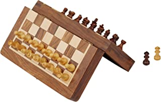 Best Travel Chess Set - SouvNear 7.5' Magnetic Folding Board - Portable Chess Game Handmade in Fine Rosewood with Storage ...