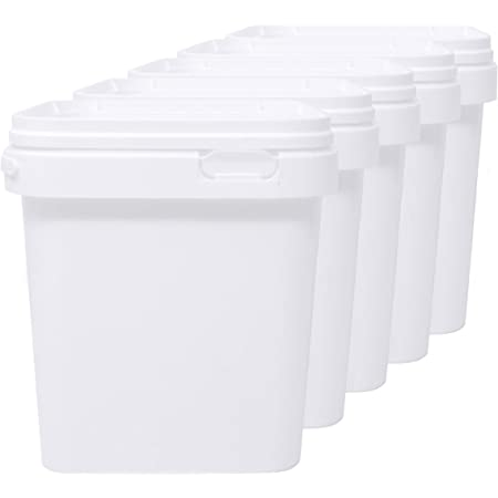 LG Luxury & Grace Lot de 5 Seau en Polypropylène Alimentaire, 2,5 L (18x16 cm). Recyclabes, 100% Libres de BPA.