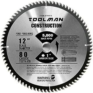Lion Tools STH012 Toolman Premium Multifunctional Carbide-Tipped Circular Saw Blade Universal Fit 12