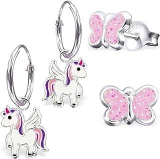 a forma di unicorno GH* KIDS Mini Pegasus braccialetto//cavigliera in argento Sterling 925 per bambina cavallo smaltato