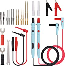Neoteck 23 Pieces Multimeter Leads Kit, Professional and Upgraded Test Leads Accessory Set with Replaceable Gold-Plated Mu...