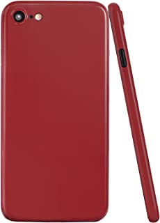 totallee iPhone 8 Case, Thinnest Cover Premium Ultra Thin Light Slim Minimal Anti-Scratch Protective - for Apple iPhone 8 Special Edition (Jet Red)