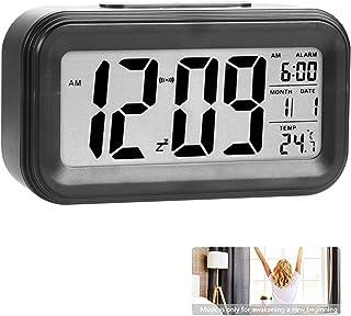 comprar comparacion Reloj de Alarma Digital, LCD Pantalla Reloj Alarma Inteligente y con Pantalla de Fecha y Temperatura Función Despertador c...