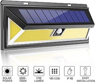 MODAR 180 COB Outdoor Solar Lights Motion Sensor, Bright Wall Lights, 3 Optional Lighting Modes, Large Solar Panel, 120° Sensing Angle, Weatherproof, Outdoor Lights for Garden, Driveway, Pathway (Big)