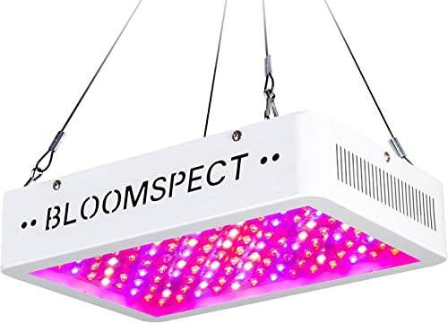 BLOOMSPECT Upgraded 1000W LED Grow Lights with Veg & RED & Bloom 3 Modes, Daisy Chain, Double Chips Full Spectrum Pla...