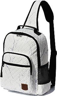 Original Floral Water Resistant Large Sling Backpack Crossbody Shoulder Daypacks Chest Bag with Adjustable Strap