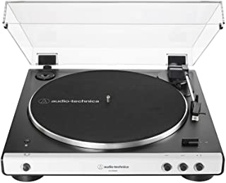 Audio Technica AT-LP60XBT-WH Bluetooth Wireless Fully Automatic Belt-Drive Turntable 33/45 RPM Speeds with Phono Preamp In...