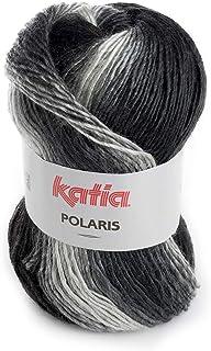 50 g Cosmos Katia 2019!! Color 206 Gris Cosmos es un fantas/ía de algod/ón con Lentejuelas para Primavera y Verano.