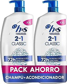 H&S Shampoo Classic 2 in 1 Antiforfora Shampoo per tutti i tipi di capelli pH bilanciato 2 Shampoo + Balsamo 1000 ml