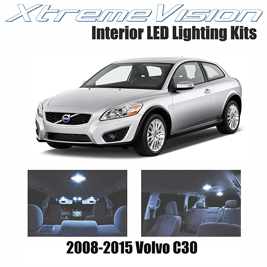 XtremeVision Interior LED for Volvo C30 2008-2015 (8 Pieces) Cool White Interior LED Kit + Installation Tool