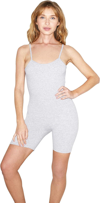 American Apparel womens Cotton Spandex Sleeveless Singlet