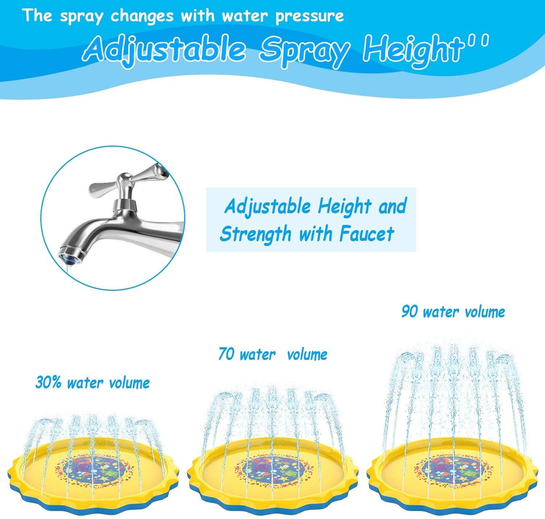 Pulchram Splash Pad , Almohadilla de Aspersión de 170 cm Water ...