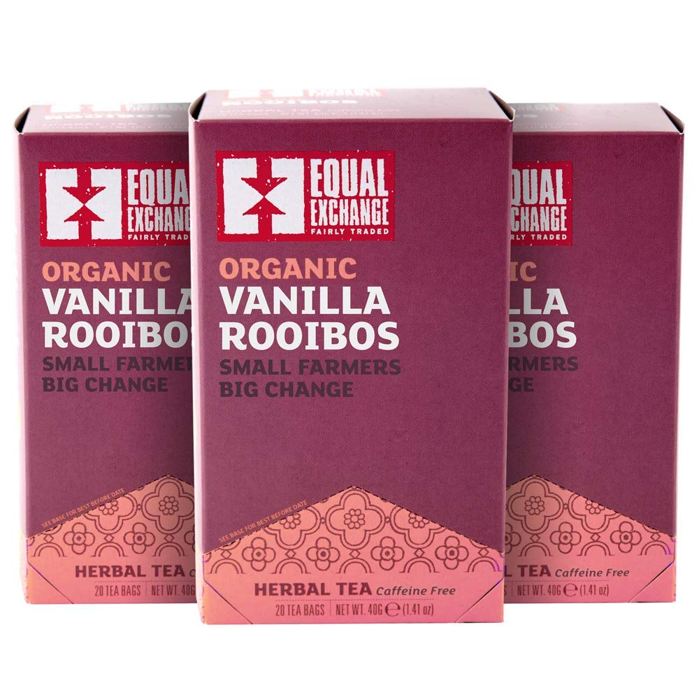 Organic Vanilla Rooibos Tea 春の新作 今だけ限定15%OFFクーポン発行中 Pack 3 of 20-Count