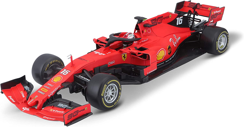 Bburago B18-16807L 1:18 2019 Ferrari-Leclerc, Rojo