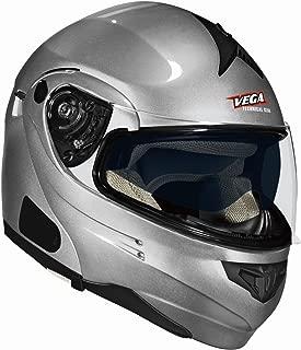Vega Summit 3.1 Modular Full Face Helmet (Silver, X-Small)