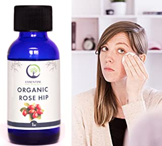 USDA Cold Pressed Organic Rosehip Seed Oil (1oz) - Cold Pressed & Unrefined for Face, Skin and Hair: Organic Rose Hip
