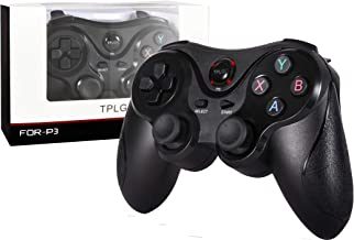 【Newest Version】 TPLGO 600 mAh High Capacity Wireless Controller for PS3, Sixaxis Remote Gamepad for Sony Playstation 3 with 6 Feet Charging Cable with Gift Wrap.