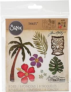 Sizzix 661207 Thinlits Die Set, Tropical by Tim Holtz (8/Pack)
