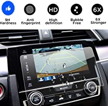 Wonderfulhz Tempered Glass Screen Protector Compatible with 2016 2017 2018 Honda Civic, 9H Hardness,Anti Fingerprint,Protect Honda 7