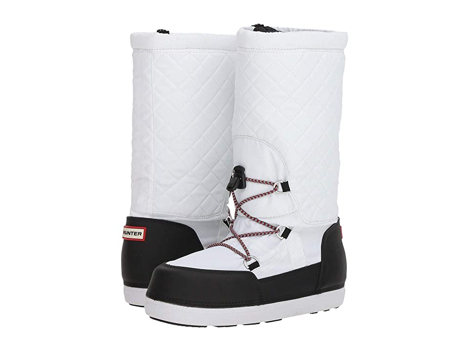 Hunter Original Quilted Snow Boots (White/Black) Women