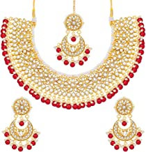 Best red kundan necklace set Reviews