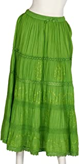 Indian Long Skirts with Solid Embroidered Design