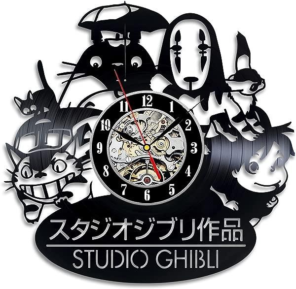 Home Crafts Ghibli Studio Handmade Japanese Cartoon Vintage Vinyl Wall Clock Gift