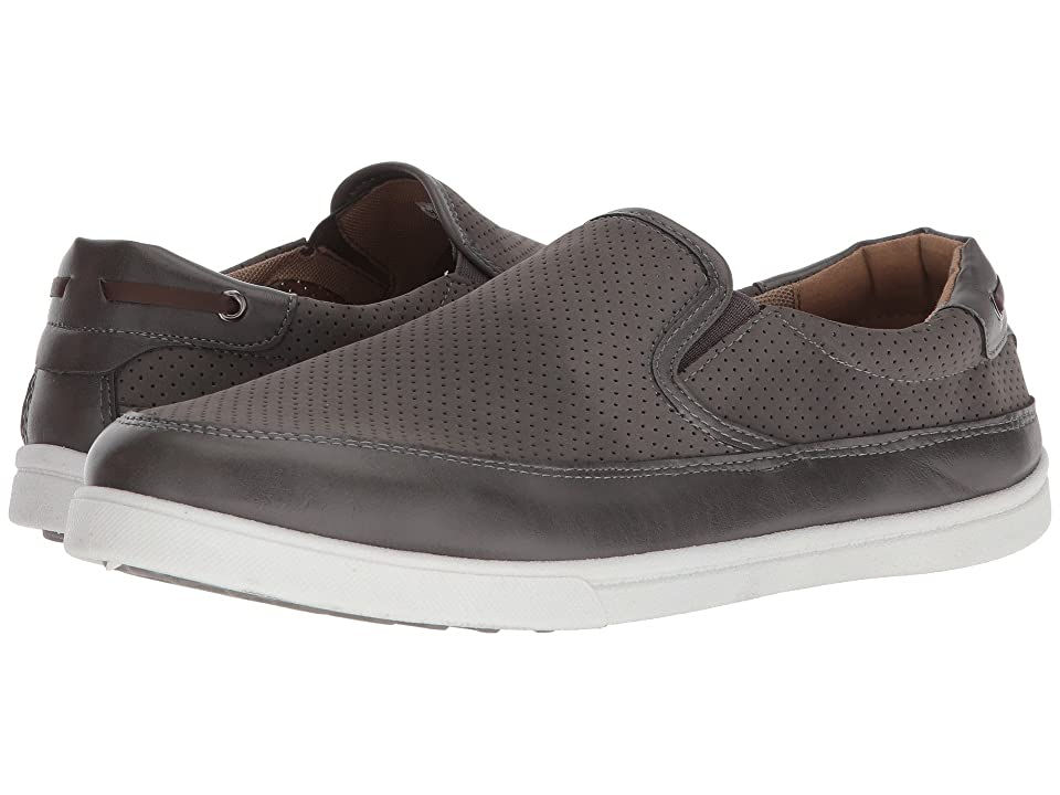 Deer Stags Harrison (Grey Simulated Leather) Men's Slip on Shoes, Gray
