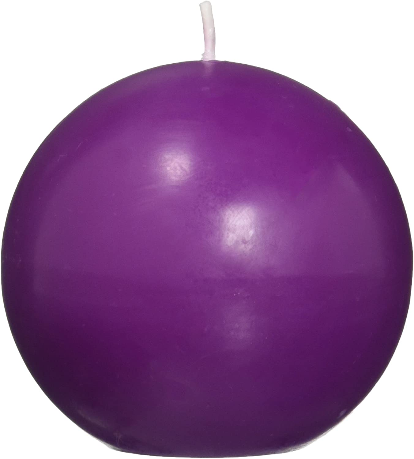 Zest Candle 6-Piece Ball Japan's largest assortment Candles El Paso Mall Purple 3-Inch