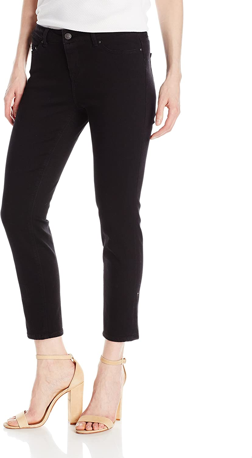 Jordache Legacy Womens Emily Midrise Skinny Ankle Jeans Black Jeans