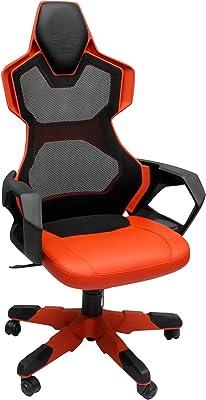 E-BLUE Silla Gaming Racing para Oficina Ergonómica Piel Sintética Ordenador Escritorio Ejecutivo - Rojo