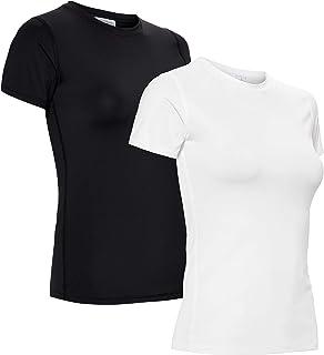 AURIQUE Amazon Brand Women's Sports Shirt, Pack of 2