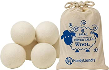 Handy Laundry Pack of 6 Wool Dryer Balls