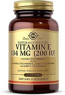 Solgar Vitamin E 200 IU, 100 Softgels 100 servings