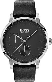 Hugo Boss 1513594 Men's Oxygen Black Dial Leather Strap Watch