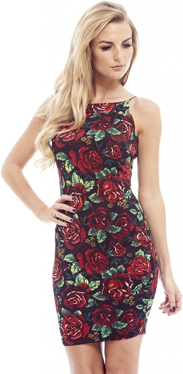 AX Paris Women's Floral String Strap Bodycon Dress