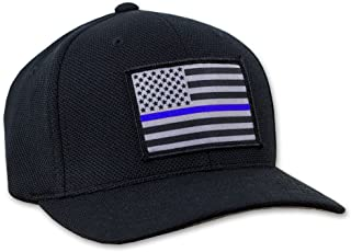Thin Blue Line American Flag Hat - Flexfit with Breathable Back