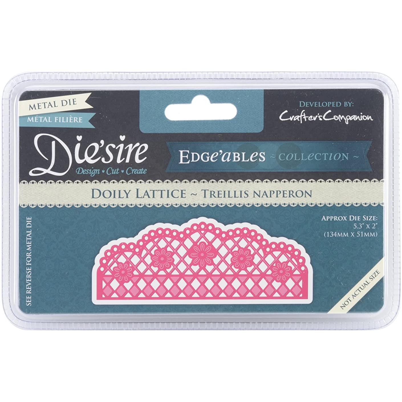 Crafter's Companion Doily Lattice Die'sire Edge'ables Cutting & Embossing Die