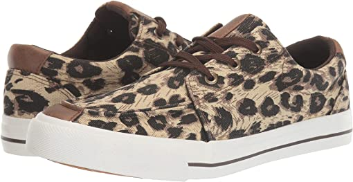 Black Tan/Brown Leopard Canvas